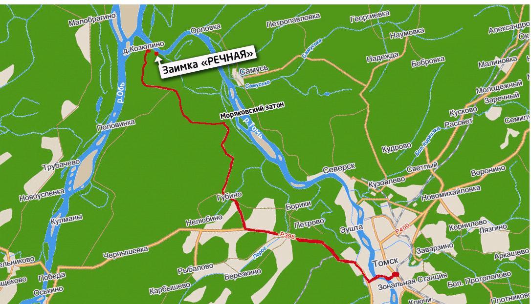 Карта схема проезда томск